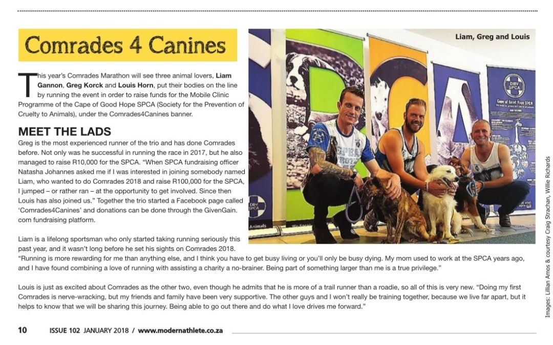 Greg's Comrades for Canines 2018
